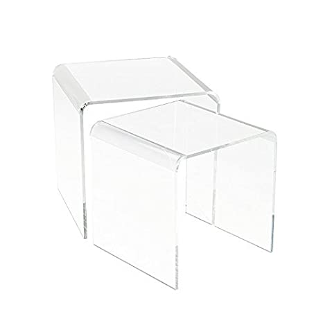Tavolino Comodino in Plexiglass Trasparente 5mm: Amazon.it: Casa e ...