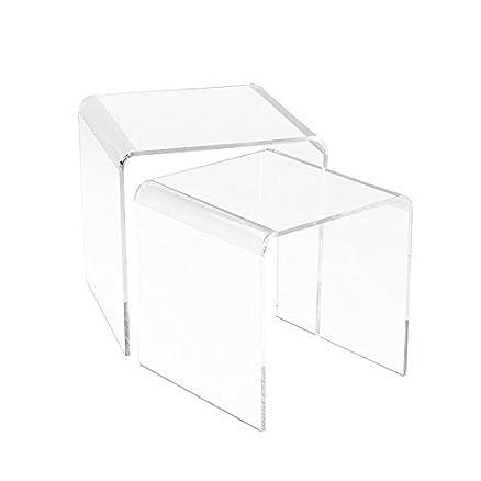Tavolino Comodino in Plexiglass Trasparente 5mm: Amazon.it: Casa e ...