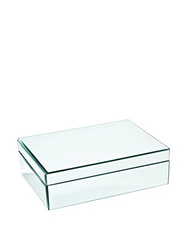 Medium Glass Jewelry Box Color: Clear Mirrored (Mirrored Keepsake Box)