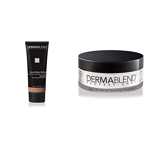 Dermablend Leg and Body Makeup Foundation with SPF 25, 40N Medium Natural, 3.4 Fl. Oz. + Free Gift with Purchase ()