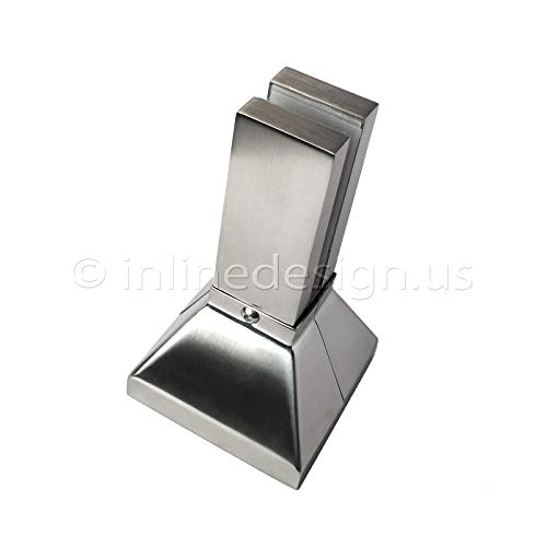 Stainless Steel Spigot Square Pyramid Glass Clamp by Inline Design