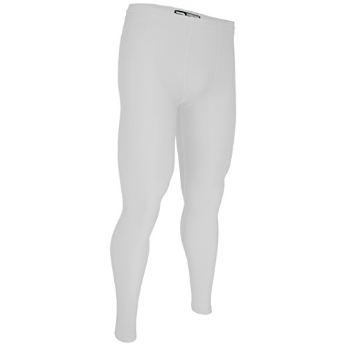 Game Gear HT-120JY-CB Youth Training Ankle Length Sport Tight w/Draw Cord (Youth Large, White)