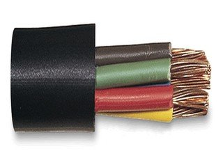 Trailer Cable 4 Conductor 14Ga Pvc Black Jacket 60V-100Feet by AYT