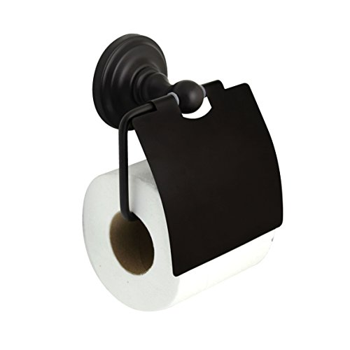 MODONA Toilet Paper Holder with Cover - Rubbed Bronze - Viola Series