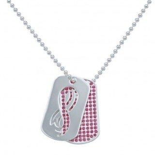 Montana Silversmiths Breast Cancer Awareness Dogtags
