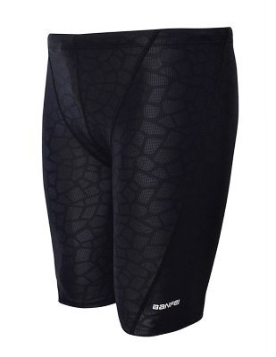 EASEA Men`s Rapid Swim Splice Quick Dry Jammer Swimsuit Black Prints 2X-Large