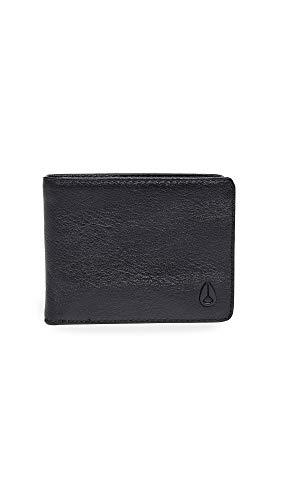 Nixon Men's Escape Leather Wallet with Clip, All Black, One Size ()