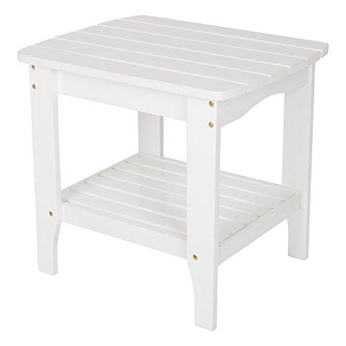 Shine Company Inc. 4103WT Large Rectangular Side Table, White