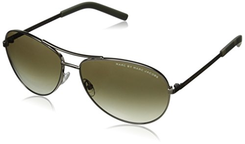 Marc by Marc Jacobs Women's MMJ343S Aviator Sunglasses, Light Gold, 59 - Wire Framed Glasses