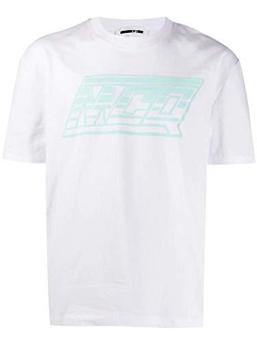 Alexander McQueen MCQ Men's 291571Rnr099000 White Cotton T-Shirt