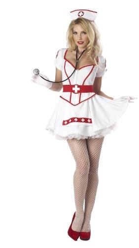 California Costumes Nurse Heart Breaker Set, White, X-Large