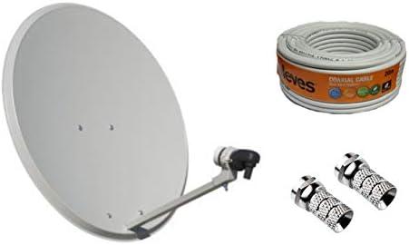 Kit Antena PARABOLICA 60cm Marca Tecatel + Rollo 20m ...