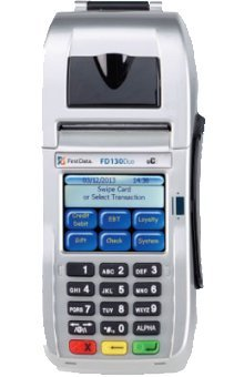 First Data FD-130 Duo Credit Card Terminal