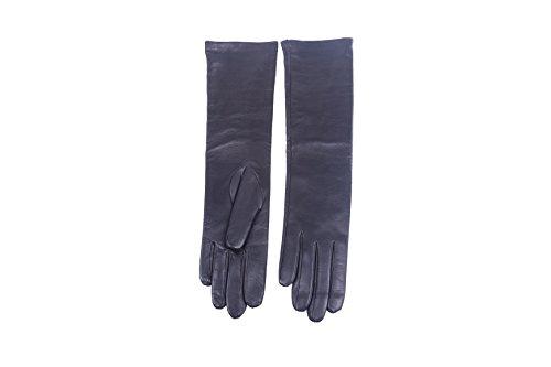 測定隠作るレディースオペラ長セミロングイタリアンレザー手袋16