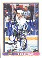 Rob Brown Hartford Whalers 1991 Bowman Autographed Card. This item comes with a certificate of authenticity from Autograph-Sports. Autographed