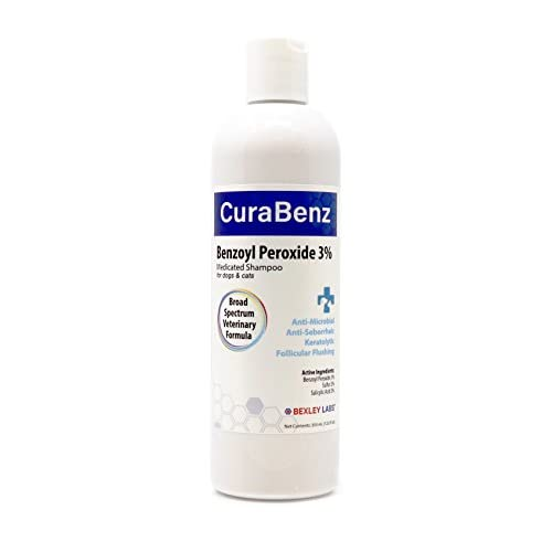 #1 Benzoyl Peroxide Shampoo, Effective for Mange, Demodex, Dandruff, Seborrhea, Pyoderma, Mites & Acne, Penetrates Deep Removing Excess Oil & Debris, Broad Spectrum Formula, Satisfaction Guarantee