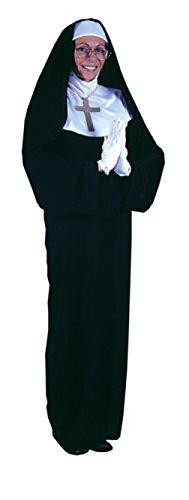 Nun Mask Costume (Funworld Womens Mother Superior Nun Religious Theme Party Halloween Costume, One Size (4-14))