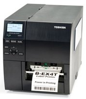 (Toshiba BEX4T1GS12DM01 Barcode Printer, Thermal Transfer, 203 dpi, 14 IPS, LAN, USB, 4