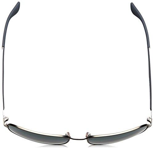 Gafas 61 73 metal Ray marrón de RB3529 012 Gunmetal Gris en color Ban sol de cuadrada Matte HBBq5wR