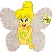 28'' Disney Fairies Tinkerbell Shaped Rug Cotton