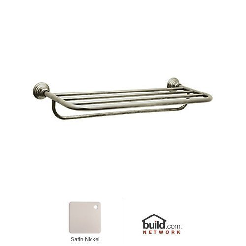 Rohl ROT10STN Country Bath Towel Rack, 24, Satin Nickel by Rohl