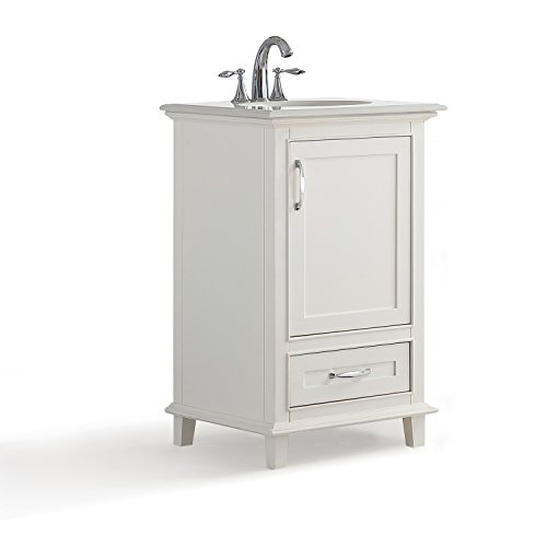 Simpli Home Axcvarw 20 Ariana 20 Inch Bath Vanity With Bombay White