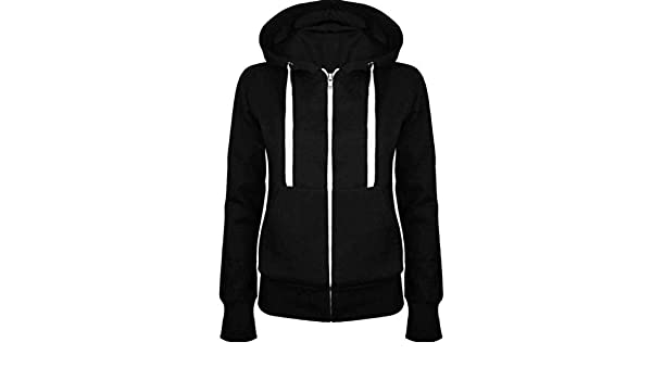 Amazon.com: S-Fly Women Stylish Hooded Linen Fleece Zipper Drawstring Sweatshirt Jacket: Clothing