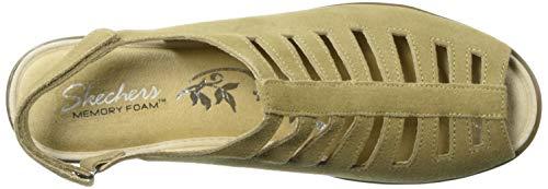 Dark Sandal Women's Skechers Wedge Parallel Trapezoid Natural wUxqaX