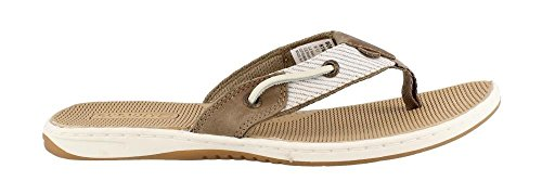 Sperry Women's, Seafish Nautical Style Thong Sandal Taupe 8.5 M by Sperry