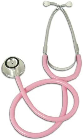 Dual head pink (bell & diaphragm) stethoscope by Walkhigh Mountaineering