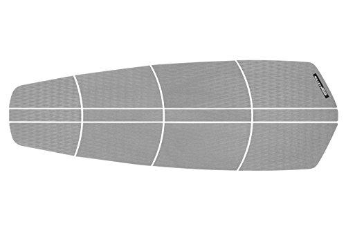 BULLET PROOF SURF SUP BLACK Traction Pad - 12 piece DIAMOND tread SUP Deck Grip - Grey