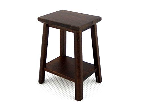 Dollhouse Pedestal - Melody Jane Dolls Houses Dark Oak Fern Stand Plant Pedestal Medium Miniature Furniture 1:12