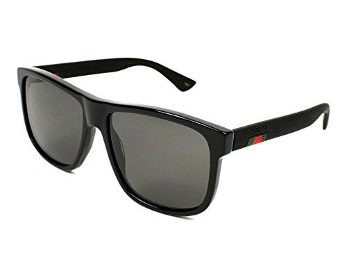 Gucci GG 0010 S- 001 BLACK/GREY Sunglasses (Gucci Sunglasses)