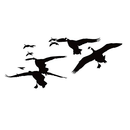 Goose Hunting Decal Flock of Geese Decal Goose Hunting Sticker Goose Hunting decoys 7076 by Waterfowldecals (Small, White)