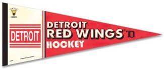 古い時間DetroitレッドWings Hockeyプレミアム品質フェルトペナント