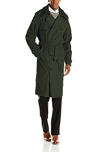 Double Breasted Fog London Coat (London Fog Men's Plymouth, Covert Green, 40L)