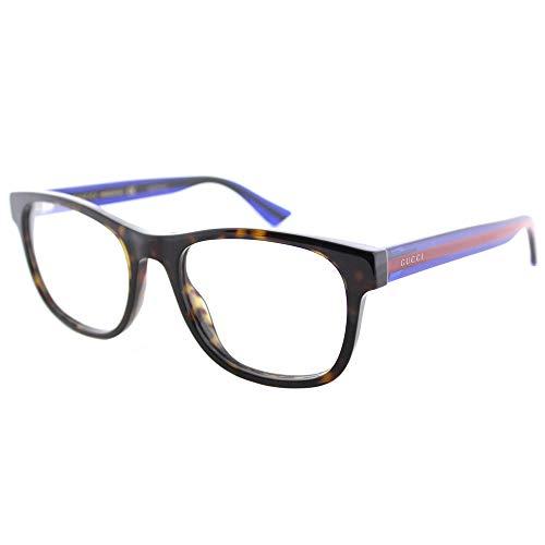 Gucci GG 0004O 003 Havana Plastic Square Eyeglasses ()