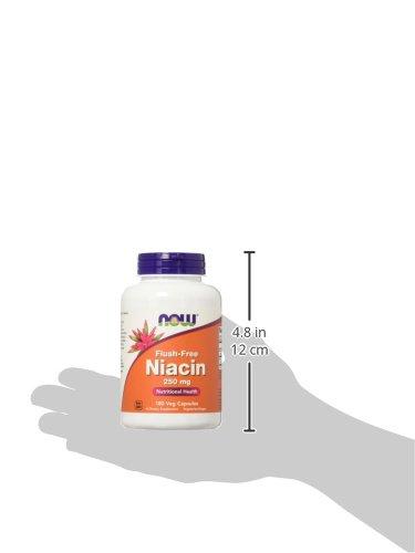 NOW Flush-Free Niacin 250 mg,180 Veg Capsules