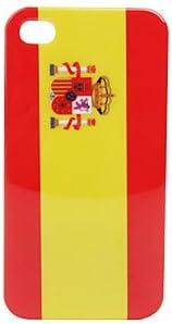 CECT STOCK La bandera de España estuche duro de protección de vuelta para el iPhone de 4: Amazon.es: Electrónica