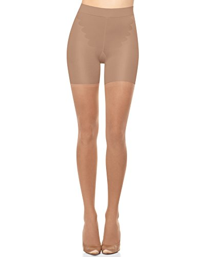 SPANX All The Way Medium Control Pantyhose, D, Nude