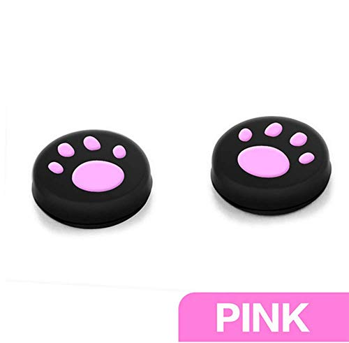 Silicone Thumb Stick Grips Cap Cover Case Thumbsticks CapsThumbsticks for Nintendo Switch Sony PS4 PS3 Xbox ONE Xbox 360 WII Controller Joystick Controle Cat Dog Paw(Pink)
