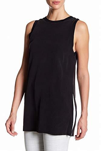 alice + olivia Womens High Neck Silk Tunic Tank Top Black XS