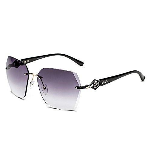CHB Women's Frameless Diamond High-end UV400 Sunglasses - Sunglasses Women's High End