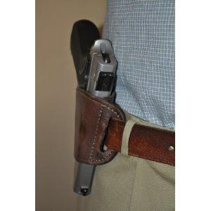 Pro-Tech Outdoors Brown Leather Beltslide Gun Holster for Beretta Cheetah  84,85