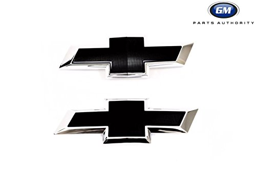 Camaro Rear Emblem - 2016-2018 Chevrolet Camaro Front & Rear Black Bowtie Emblems 23358104 / 84219485 Genuine GM