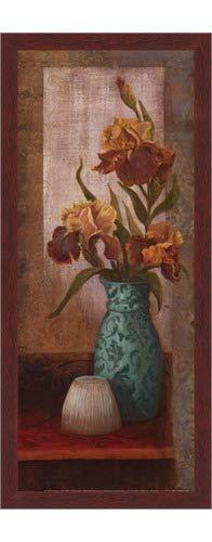 (Poster Palooza Framed Spiced Jewels II - Mini- 8x20 Inches - Art Print (Walnut Brown Frame))