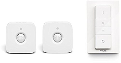 Rilevatore Di Presenza Per Accensione Luci.Philips Hue Sensore Di Movimento Per Accensione E Spegnimento 2 Pezzi Telecomando Dimmer Switch Per Sistema Hue Bianco