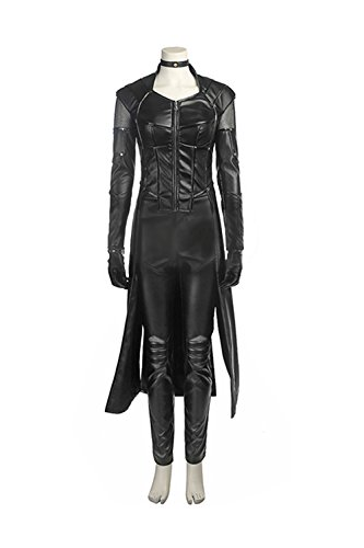 Laurel Lance Arrow Costume (Laurel Lance Full Set Costume Deluxe Black Green Spandex CL Arrow Cosplay Halloween S)