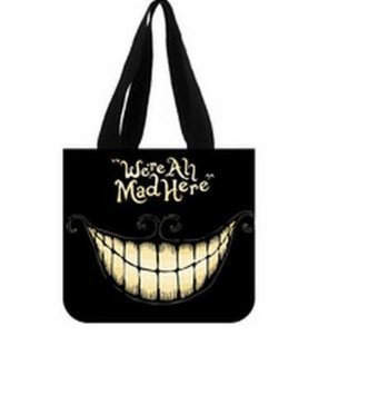 Alice In Wonderland Tote Bag - Angelinana Fashion 2014 new arrival Alice in Wonderland Printed Canvas Girl And Women Shopping Bag Two Side Tote Bag