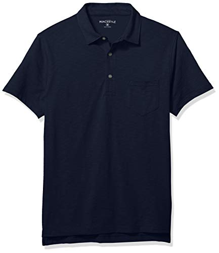 Used, J.Crew Mercantile Men's Short-Sleeve Polo Shirt, Navy, for sale  Delivered anywhere in USA